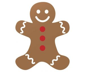 This is a picture of gingerbread man.